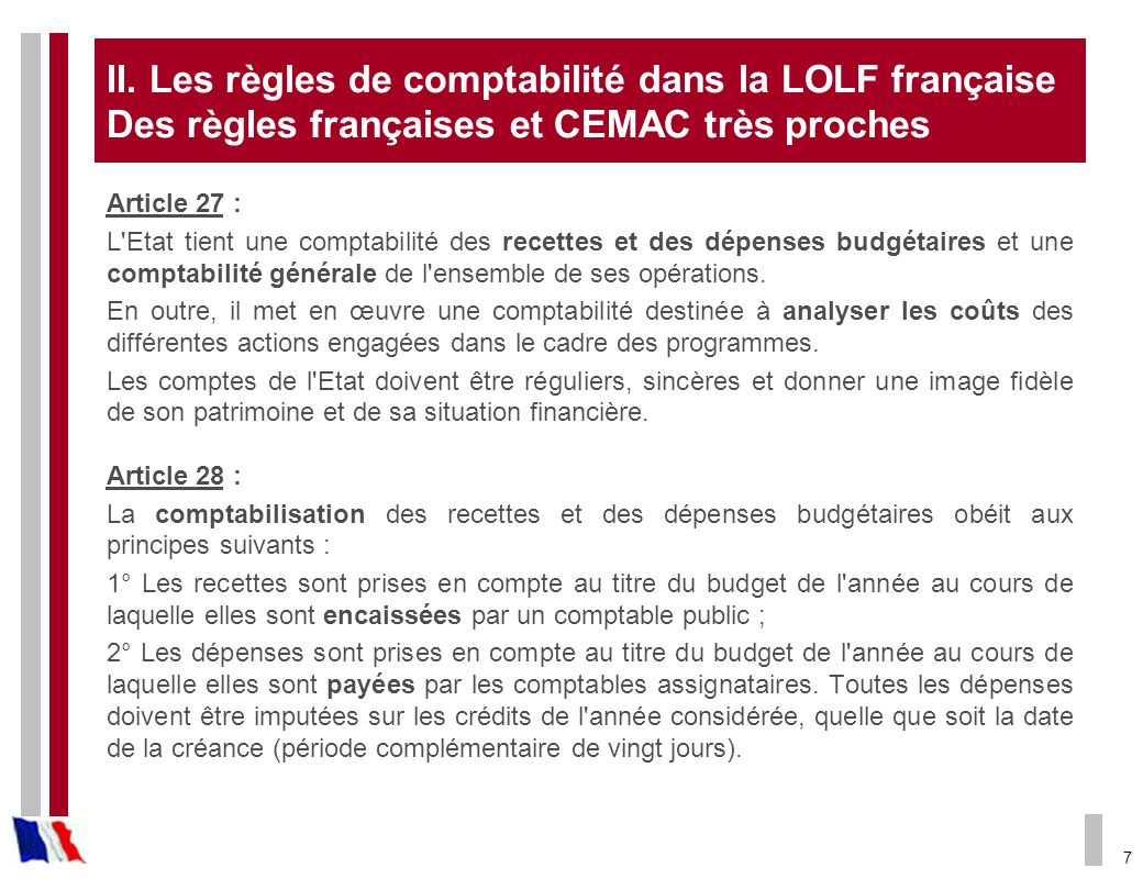 8 Une comptabilité LOLF à trois dimensions (art.