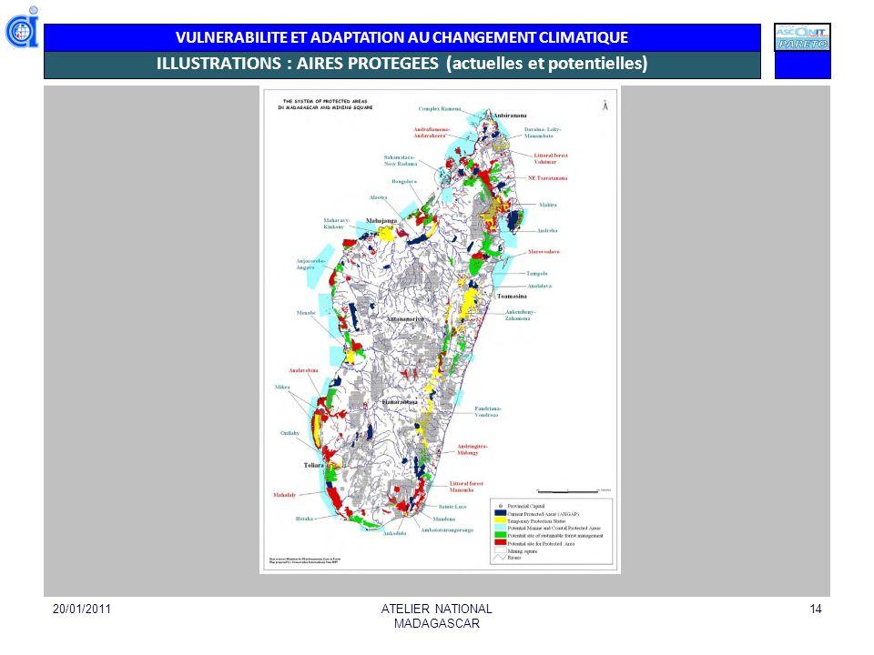 VULNERABILITE ET ADAPTATION AU CHANGEMENT CLIMATIQUE EXEMPLE BIODIVERSITE MARINE 20/01/2011ATELIER NATIONAL MADAGASCAR 15