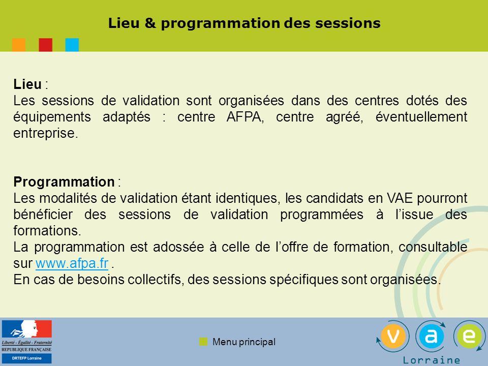 Menu principal En savoir plus … Portail national de la VAE : www.vae.gouv.frwww.vae.gouv.fr Site de lAFPA : www.afpa.frwww.afpa.fr Site de la DRTEFP Lorraine : www.lorraine.travail.gouv.frwww.lorraine.travail.gouv.fr Site de lAFPA en Lorraine : www.lorraine.afpa.frwww.lorraine.afpa.fr TEXTES DE REFERENCE : Code du travail : Articles L.