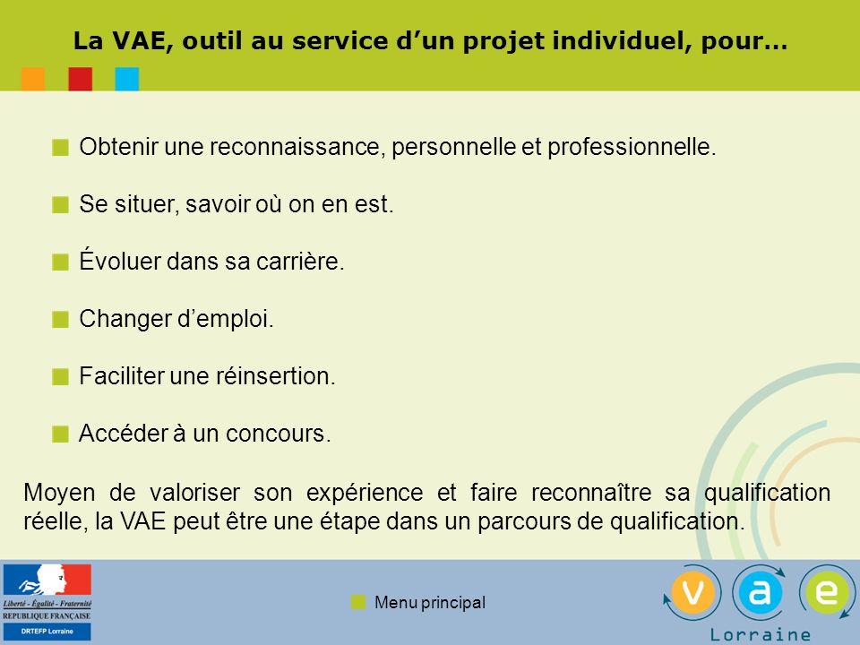 Menu principal La VAE, outil de gestion des ressources humaines… Démarche individuelle du salarié, la VAE peut aussi être une démarche initiée et portée par lentreprise, dans un intérêt partagé.