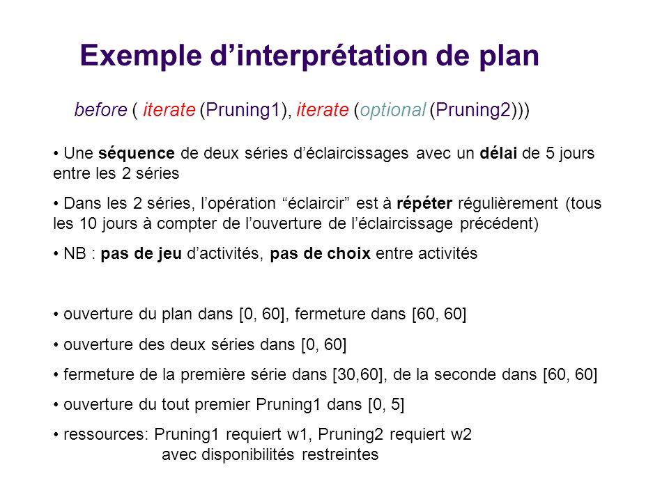 Exemple dinterprétation de plan before ( iterate (Pruning1), iterate (optional (Pruning2)))