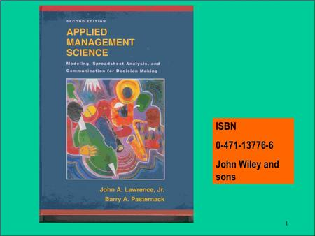 1 ISBN 0-471-13776-6 John Wiley and sons. 2 IntroductionIntroduction Chapter 1.