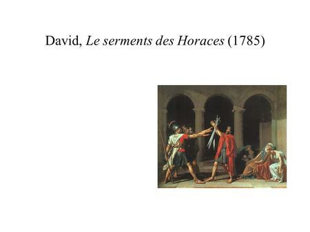 David, Le serments des Horaces (1785)