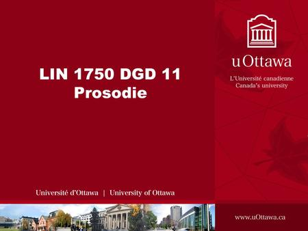 LIN 1750 DGD 11 Prosodie.