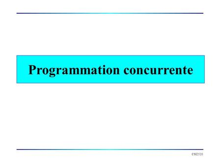 Programmation concurrente
