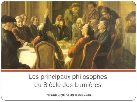 fiches biographiques philosophes des lumières