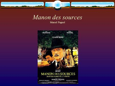 Manon des sources Marcel Pagnol. CCEA Resources Pack: GCE French (extract) Society The following suggestions for the societal themes are intended to provide.