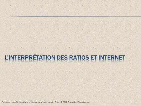 L'Interprétation des ratios et internet