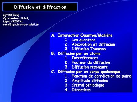 Diffusion et diffraction