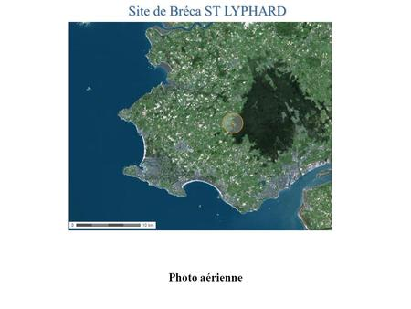 Photo aérienne Site de Bréca ST LYPHARD. Carte IGN.