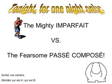 The Mighty IMPARFAIT VS. The Fearsome PASSÉ COMPOSÉ!