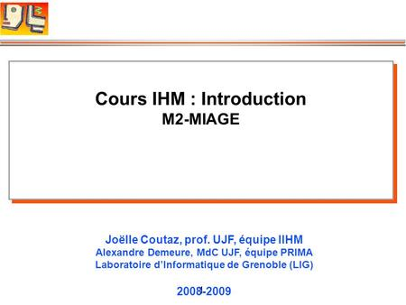 Cours IHM : Introduction