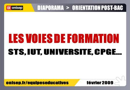 DIAPORAMA > ORIENTATION POST-BAC