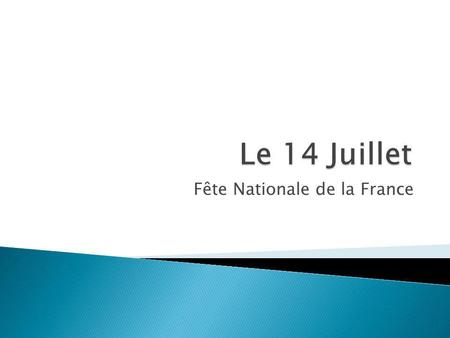 Fête Nationale de la France
