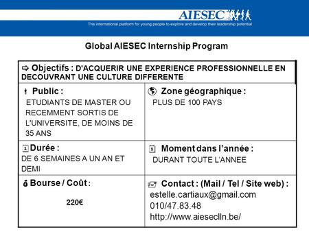 Global AIESEC Internship Program