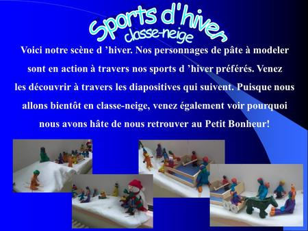 Sports d'hiver classe-neige