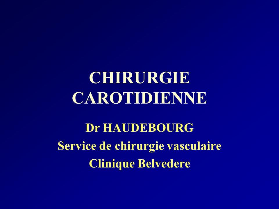 Epidémiologie Les sténoses carotidiennes : 5 à 10 % des sujets de plus de 65 ans 20 à 30 % des patients coronariens ou artéritiques 45 000 Accidents ischémiques cérébraux –80 % : origine carotidienne –2/3 carotide extra-crânienne