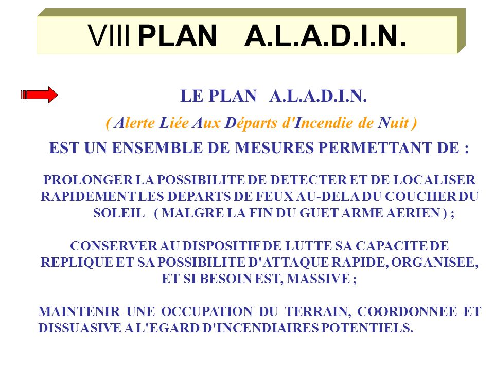 VIIIPLAN A.L.A.D.I.N.LE PLAN A.L.A.D.I.N.