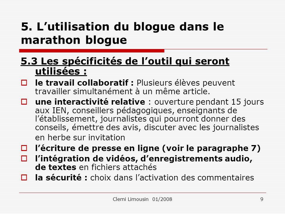 Clemi Limousin 01/200810 6.Laccès à linformation sur le Net.