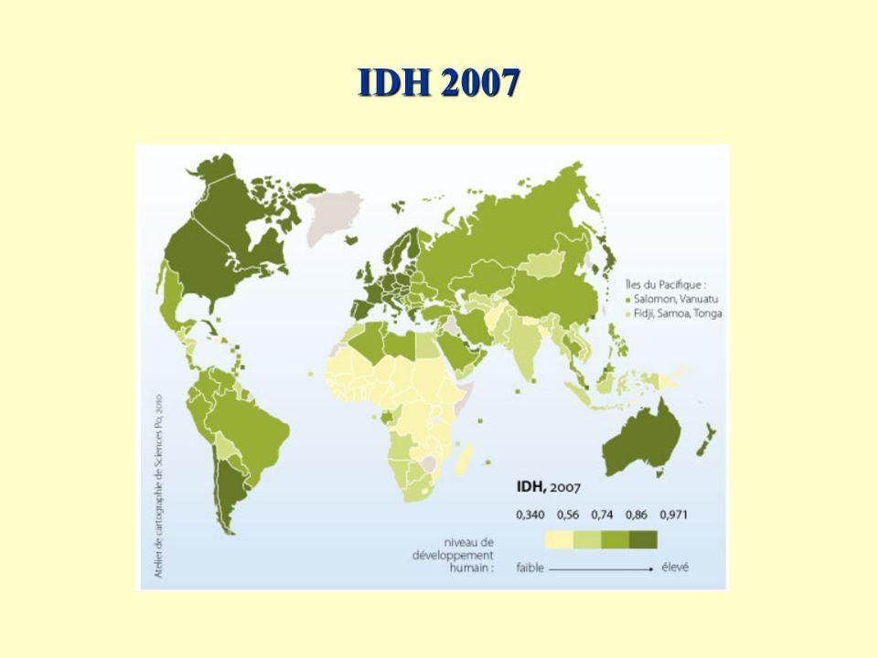 Espérance de vie 2007
