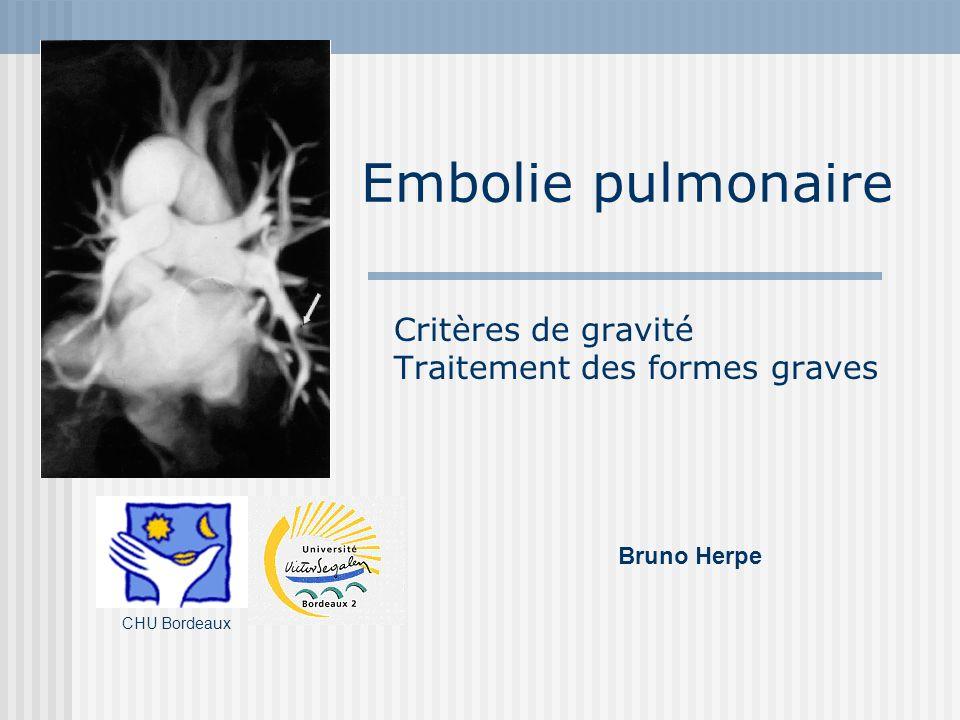 Embolie pulmonaire = Pas de scoop !