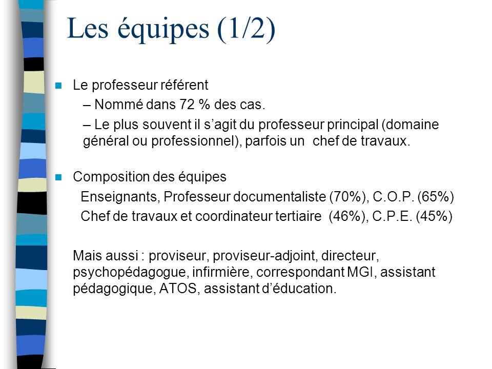 Les équipes (2/2) Intervenants sur le module DP 6h – Enseignement professionnel : de 1 à 4 par groupe ou division.