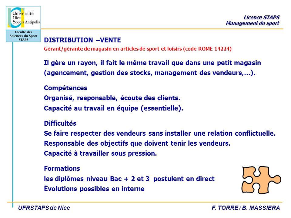 Licence STAPS Management du sport UFRSTAPS de NiceF.