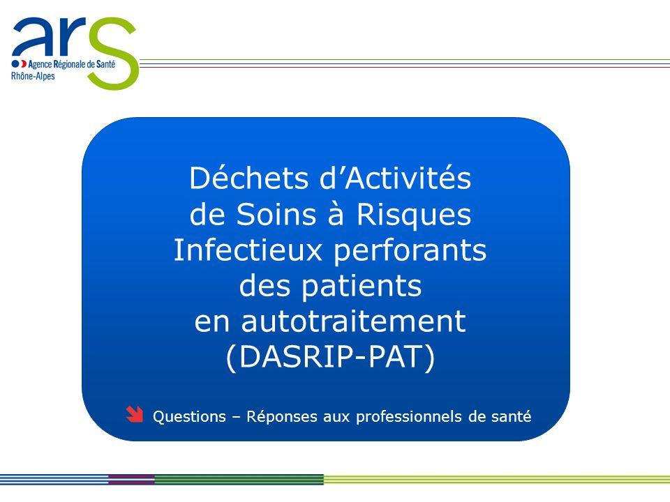 DASRI perforants des patients en autotraitement (DASRIP-PA) Je suis pharmacien dofficine, pharmacien gérant dune pharmacie à usage intérieur (PUI) ou biologiste médical.