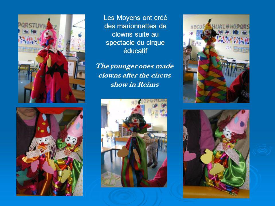 The very young ones made some collages Collages chez les tout petits