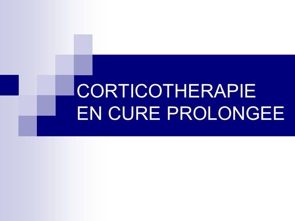 Indications de la corticothérapie prolongée