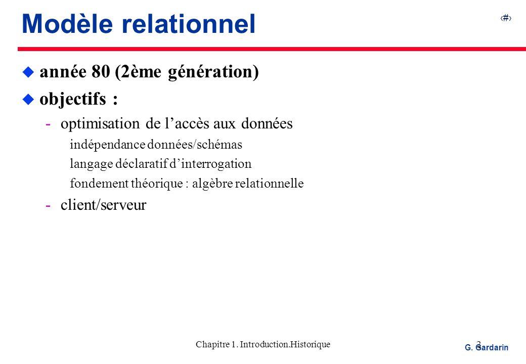 3 EQUINOXE Communications G.Gardarin Chapitre 1.