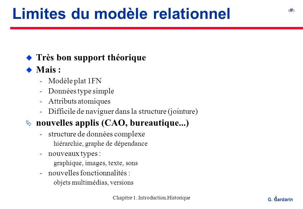 4 EQUINOXE Communications G.Gardarin Chapitre 1.