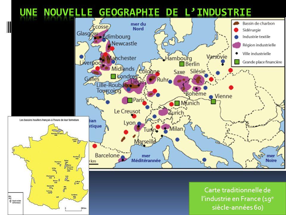Modification de la carte de lindustrie sous leffet du taylorisme et des incitations dEtat