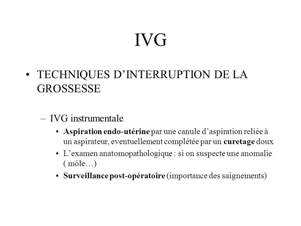 IVG INTERRUPTION DE LA GROSSESSE –Pour toute IVG, ne pas oublier: Rophylac La préscription dune contraception à démarrer dans les 24 heures suivant lIVG
