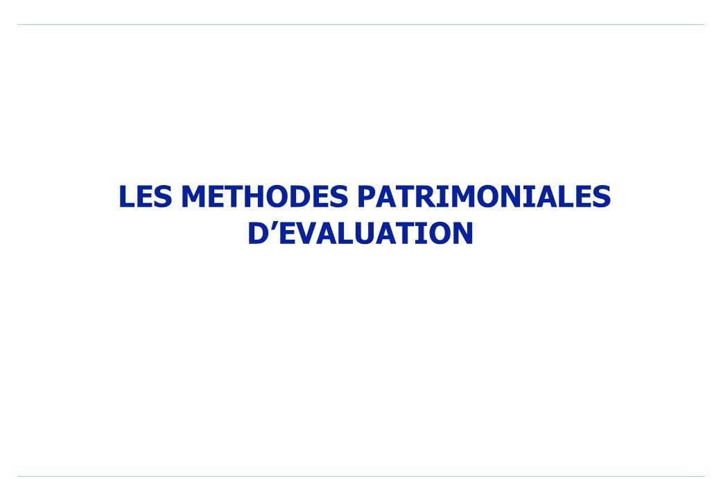 LES METHODES PATRIMONIALES DEVALUATION