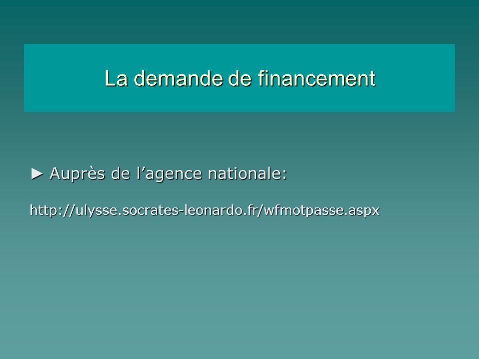 Les étapes calendaires Demande de charte Demande de financement Contractualisation Agence executive Agence nationale 30/11/2007 14/03/2008 01/07/08 au 30/09/09