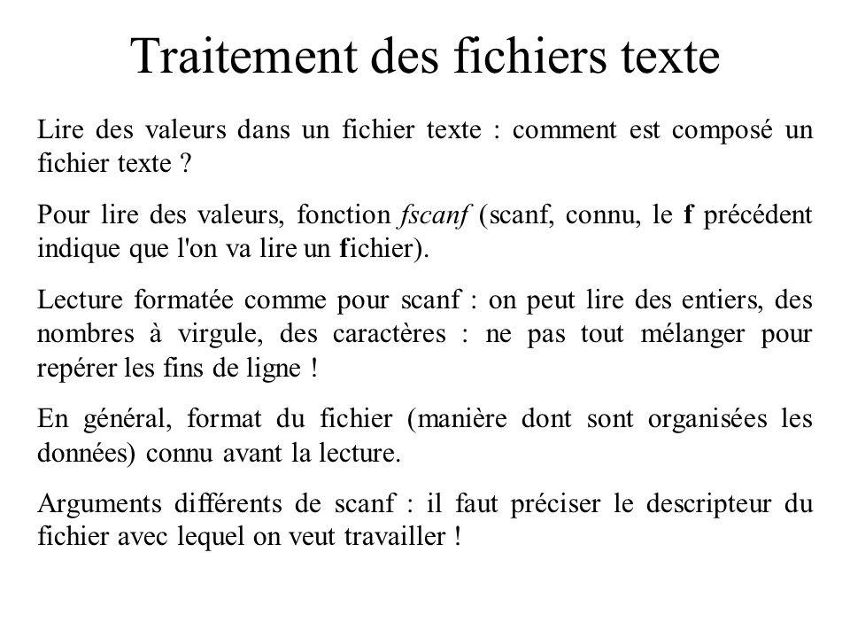 Traitement des fichiers texte Un exemple de fichier texte : une petite fiche de renseignements.