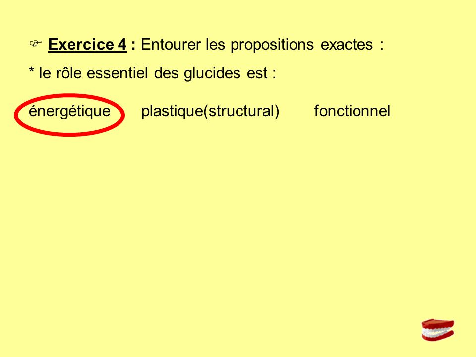 Exercice 5 : Daprès vos connaissances et en vous aidant du document ci-dessous, surligner dans les deux menus proposés : en bleu les aliments sources de glucides simple ou doubles, en vert les aliments sources de glucides complexes.