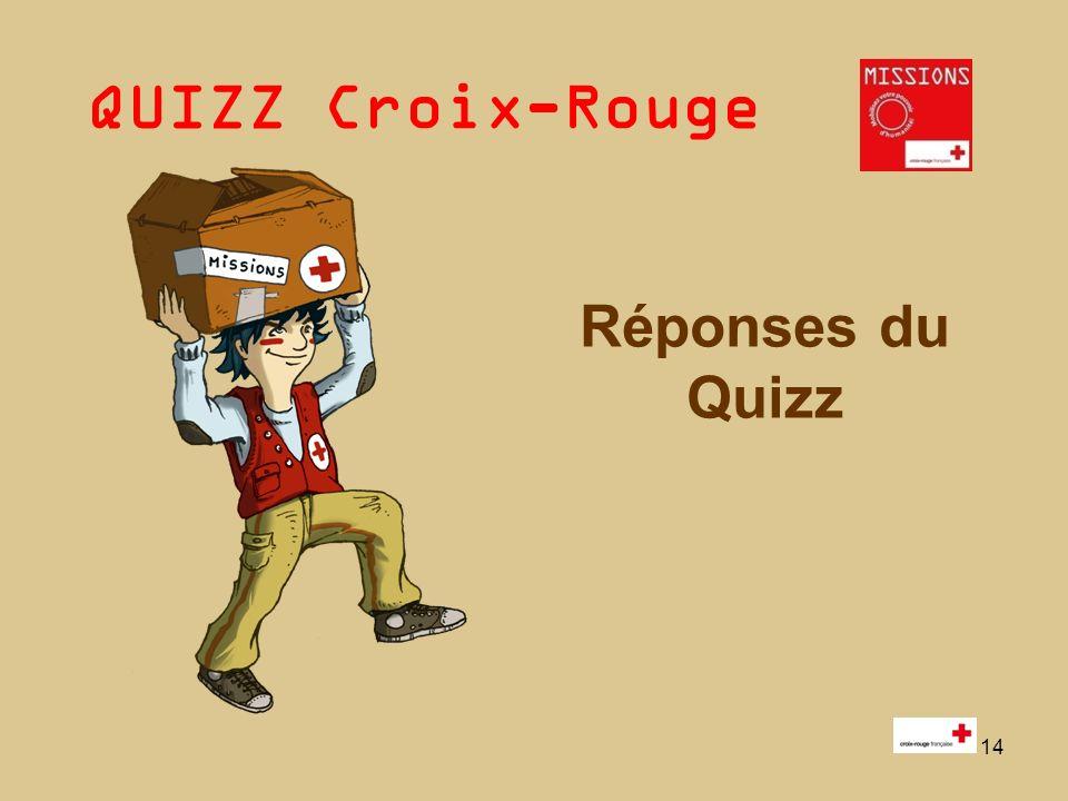 QUIZZ Croix-Rouge 15 Q1 - Vrai : 1 et 2.