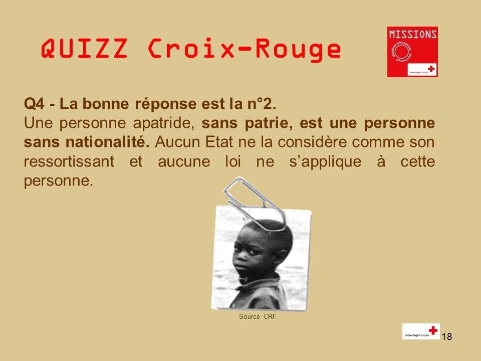 QUIZZ Croix-Rouge 19 Q5 Lintrus est le n°4 : est une imitation qui entraîne une confusion.