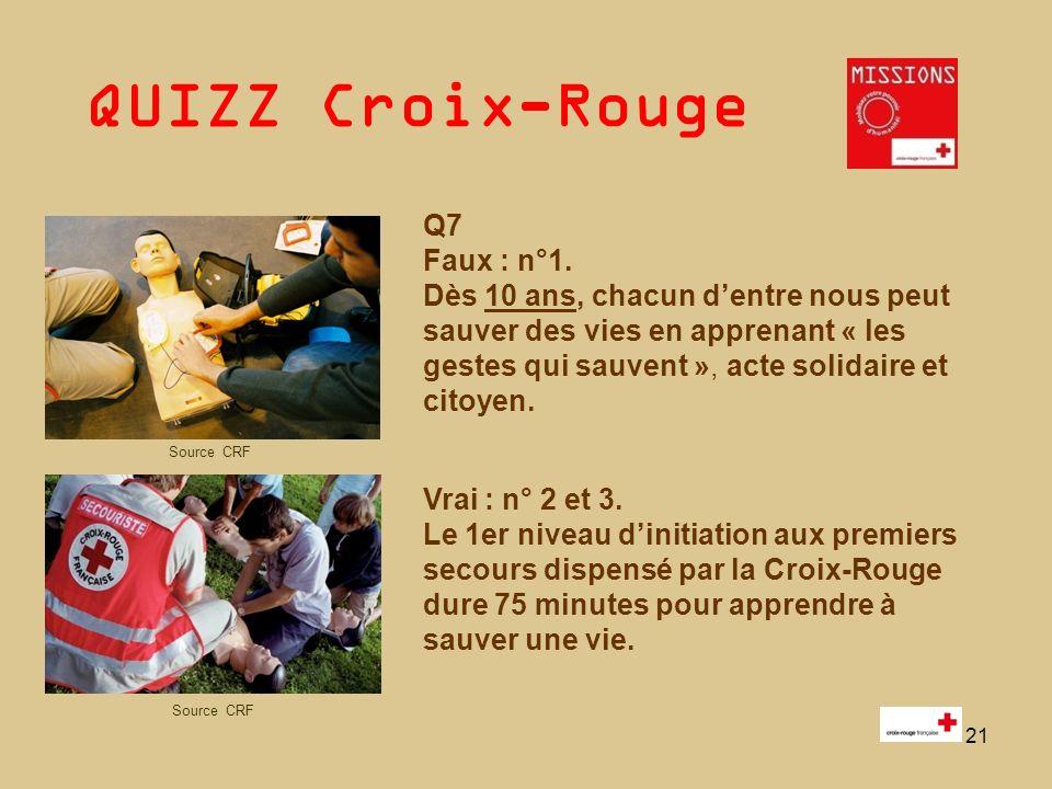 QUIZZ Croix-Rouge 22 Q8 La bonne réponse est la n° 3 - Est illettré quelquun qui ne maîtrise ni la lecture, ni lécriture.
