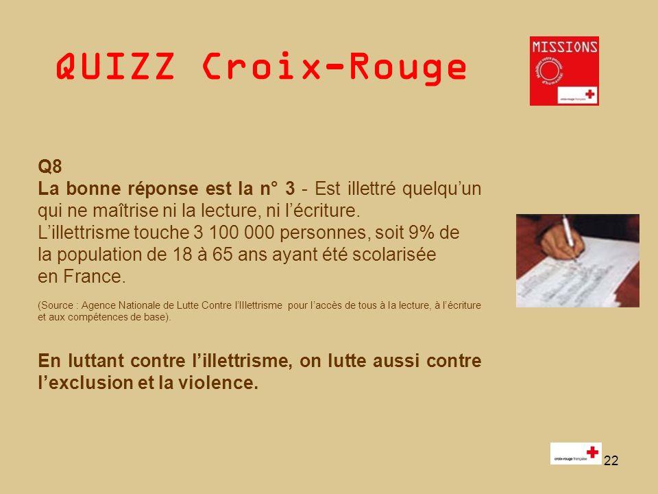 QUIZZ Croix-Rouge 23 Fin du QUIZZ Pause