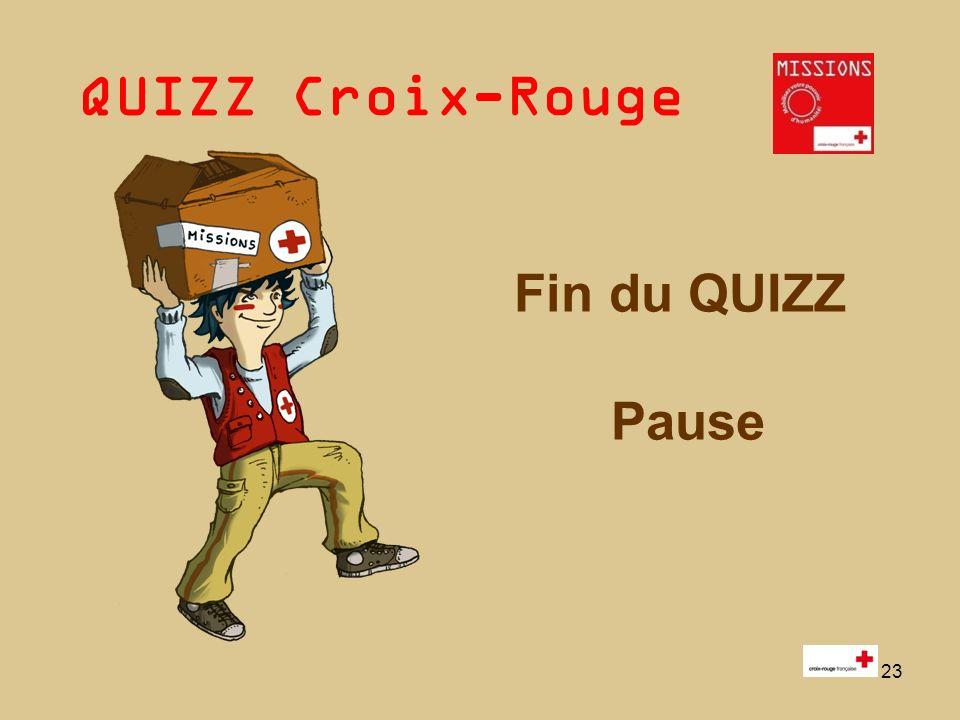 QUIZZ Croix-Rouge « Mobilisez votre pouvoir dhumanité » 1 - 24 « MOBILISEZ VOTRE POUVOIR DHUMANITE !» 2 ème PARTIE : Jeu « MISSIONS »