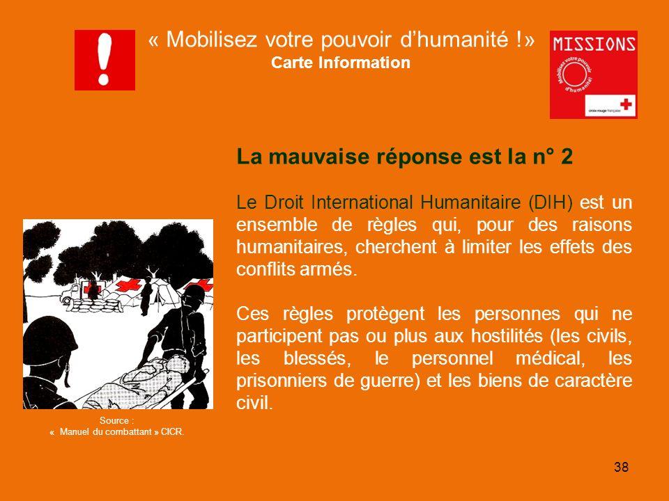 QUIZZ Croix-Rouge « Mobilisez votre pouvoir dhumanité » 1 - 39 FIN DU JEU MISSIONS