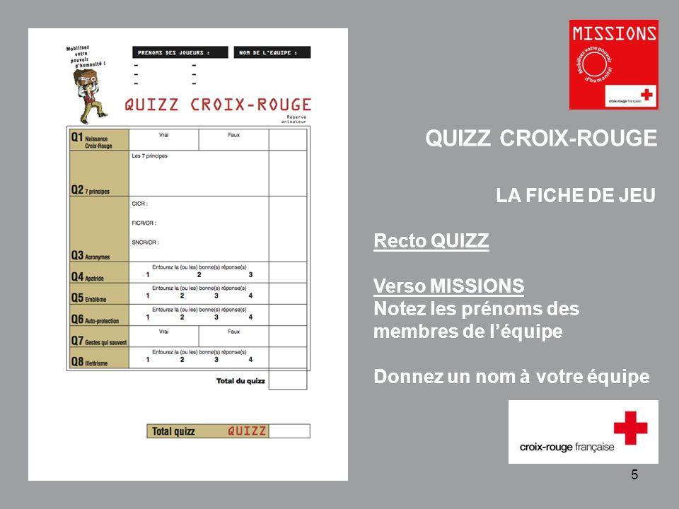QUIZZ Croix-Rouge Q1 - Naissance du Mouvement Croix-Rouge et Croissant-Rouge.