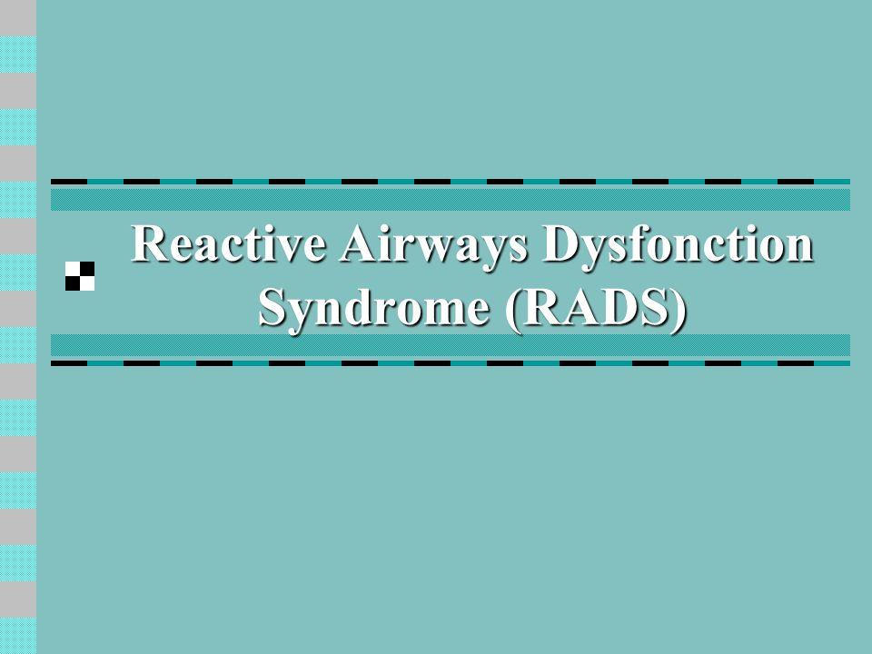 Asthme en relation avec le travail Asthme professionnel Avec latence (allergique) Sans latence (RADS) Asthme aggravé (exacerbé) par le travail