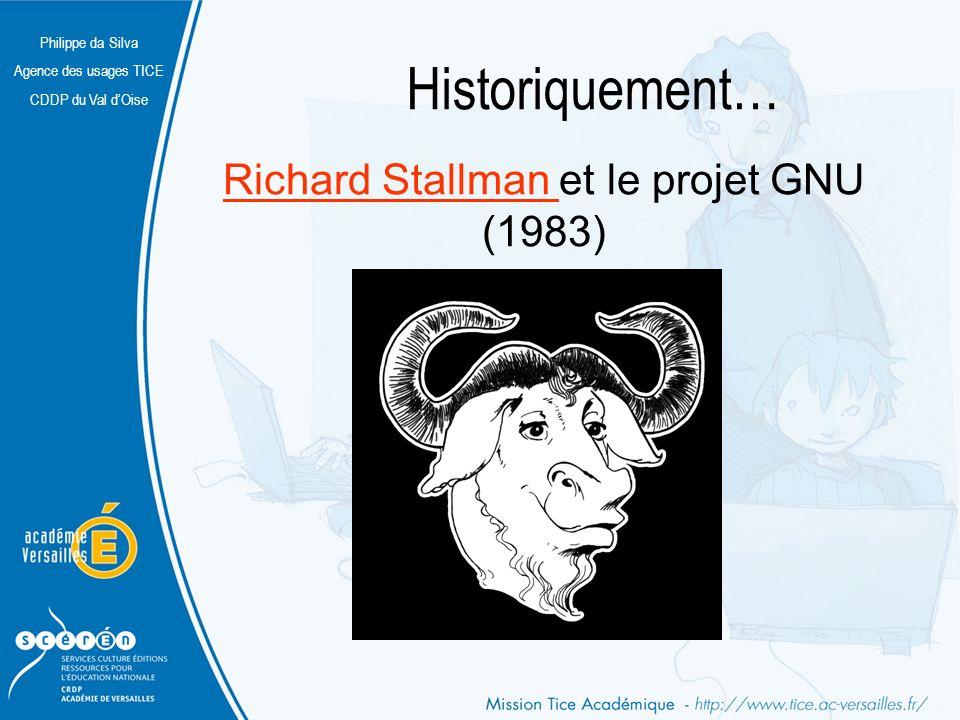 Philippe da Silva Agence des usages TICE CDDP du Val dOise Historiquement… Linus Torvalds Linus Torvalds et le projet Linux (1991)projet Linux