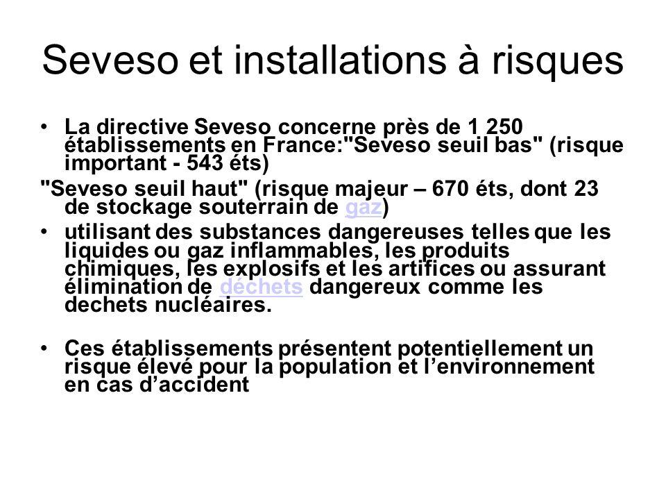 Dans le langage courant, un site classé Seveso signifie qu il est classé Seveso seuil haut.