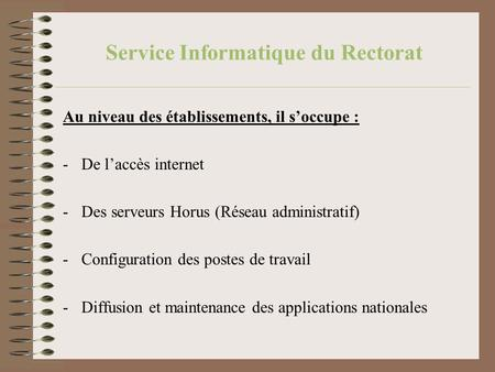 Service Informatique du Rectorat