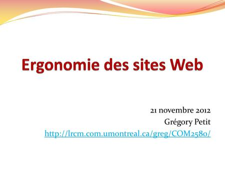 Ergonomie des sites Web